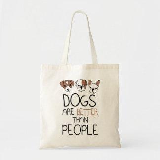 Hundar är bättre, än folket toto hänger lös kanfas tygkasse