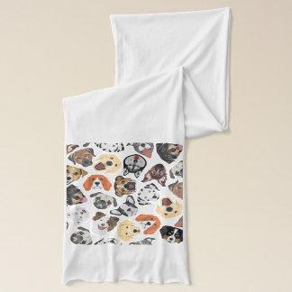 Hundar för domestic för illustrationmönster söta halsduk