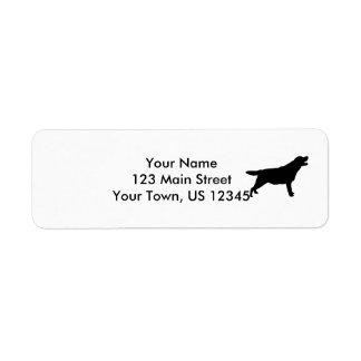 Hundar för kärlek för Silhouette för Labrador Returadress Etikett