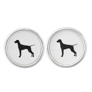 Hundar för pekareSilhouettekärlek Cufflinks