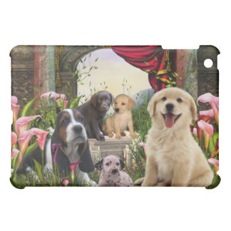 Hundar för valp för Callaliljaträdgård iPad Mini Mobil Skydd