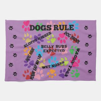 Hundar härskar färgrik tass avtryck kökshandduk