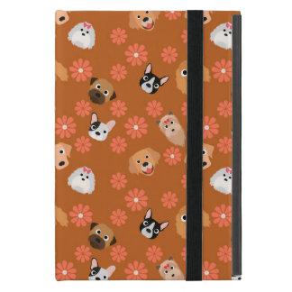 Hundar och blommor rostar iPad mini fodral
