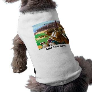 Hundar som leker baseball husdjurströja