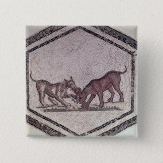 Hundar som slåss för en fågel, romare, 2nd-3rd årh standard kanpp fyrkantig 5.1 cm