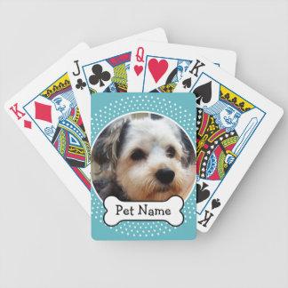 Hundben- och blåttpolkaen pricker den älsklings- spelkort