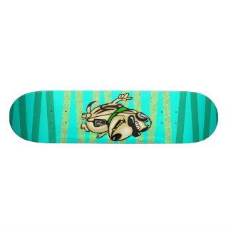 Hunden älskar musik old school skateboard bräda 21,6 cm
