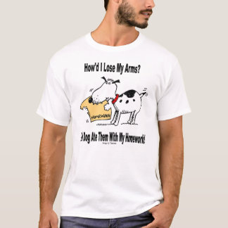 Hunden åt min ärmar tee shirts
