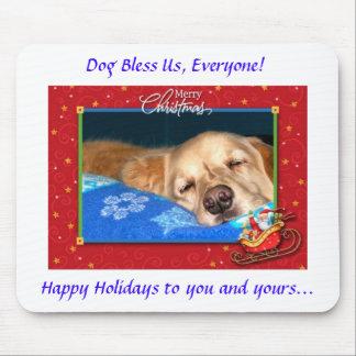 Hunden välsignar oss, alla! Helgdag Mousepad Musmatta