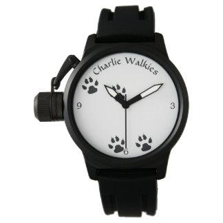 Hundfotspårmall Armbandsur
