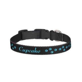 Hundhalsband för blåtttasstryck halsband husdjur