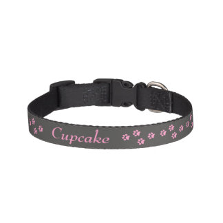 Hundhalsband för rosatasstryck halsband husdjur