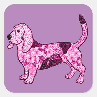 Hundhund Fyrkantigt Klistermärke