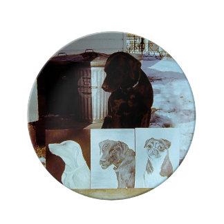 Hundmålningar Porslinstallrik