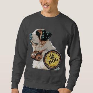 Hundman dricka tröja för kompis