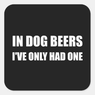 Hundöl Fyrkantigt Klistermärke