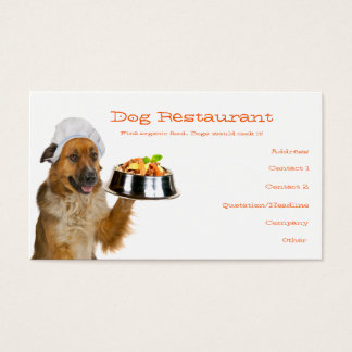 Hundrestaurang Visitkort