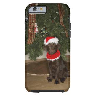 Hundsitta vid en julgran tough iPhone 6 skal