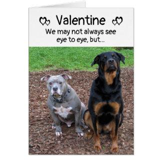 Hundskäll- och Woofsvalentin kort för dag Hälsningskort