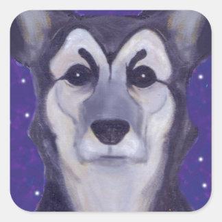 Hundstjärna Fyrkantigt Klistermärke