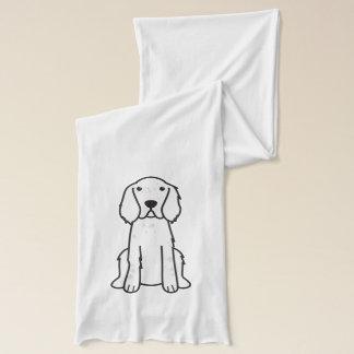 Hundtecknad för engelsk Setter Sjal
