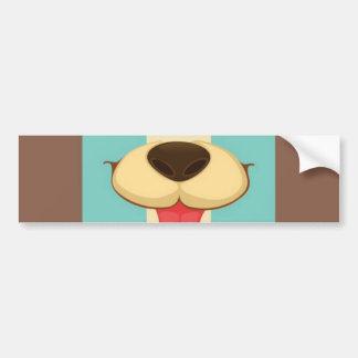 Hundtunga, näsa på för blåttkräm för vintage Retro Bildekaler