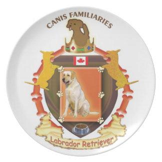 Hundvapenskölden pläterar - den Labrador retriever Tallrik