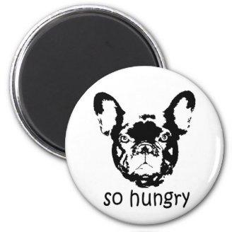 Hungrig Frenchie magnet Magneter