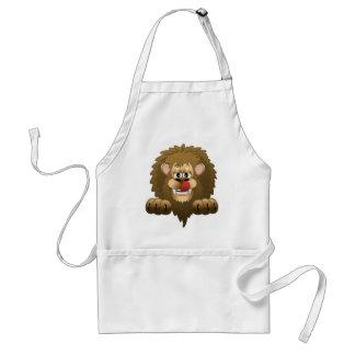 Hungrig lejon tecknad förkläde
