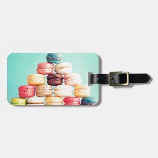 Hungrig Macaron hipster, multifärgad, sötsakkakor Bag Tag För Väskor