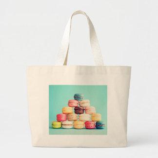 Hungrig Macaron hipster, multifärgad, sötsakkakor Jumbo Tygkasse