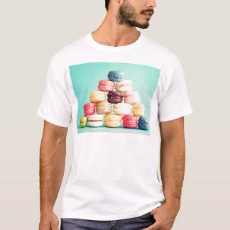 Hungrig Macaron hipster, multifärgad, sötsakkakor Tshirts