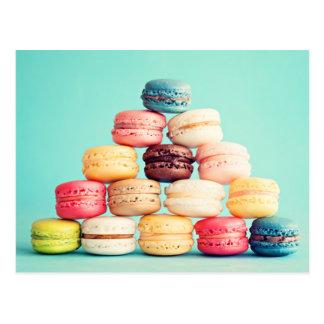 Hungrig Macaron hipster, multifärgad, sötsakkakor Vykort