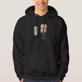 hungrig rik affärsmantecknad för roliga pengar sweatshirt med luva