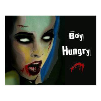 """Hungrig"""" (zombien) vykort """"för pojke"""