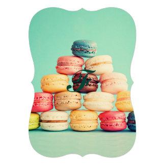 Hungrigt Macaron, hipster, multifärgad, 12,7 X 17,8 Cm Inbjudningskort