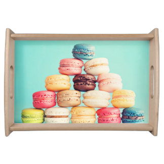 Hungrigt Macaron, hipster, multifärgad, Matbricka