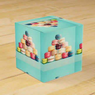 Hungrigt Macaron, hipster, multifärgad, Presentaskar