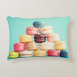 Hungrigt Macaron, hipster, multifärgad, Prydnadskudde