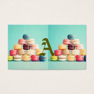 Hungrigt Macaron, hipster, multifärgad, Visitkort