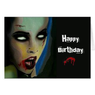 """Hungrigt"""" (zombien) födelsedagkort """"för pojke hälsningskort"""