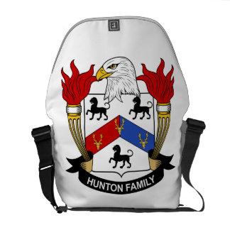 Hunton familjvapensköld kurir väskor