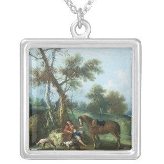 Huntsman'sen vilar, det 18th århundradet silverpläterat halsband