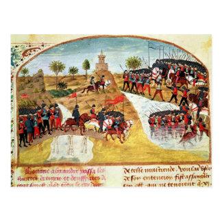 Hur Alexander underbaren korsade Tigrisen Vykort
