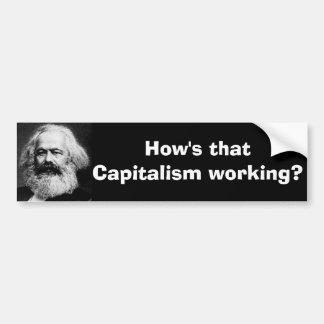 Hur är den kapitalism funktionsduglig? bildekal