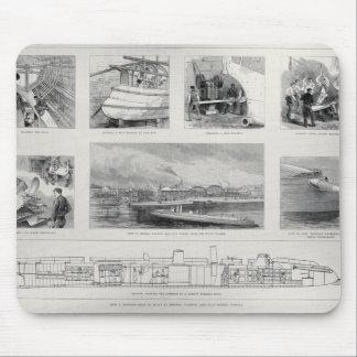 Hur ett torpedfartyg byggas musmatta