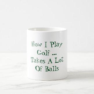 Hur jag leker golf kaffemugg