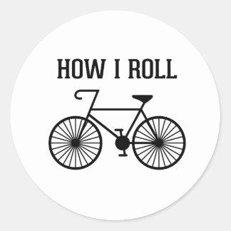 Hur jag rullar cykelklistermärkear runda klistermärken