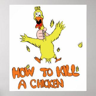 Hur man dödar en höna poster