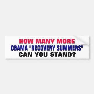 Hur många kan Obama återställningssomrar dig stå? Bildekal